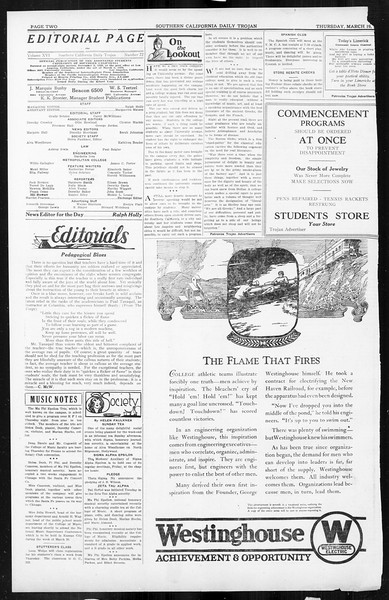 Daily Trojan, Vol. 16, No. 72, March 19, 1925