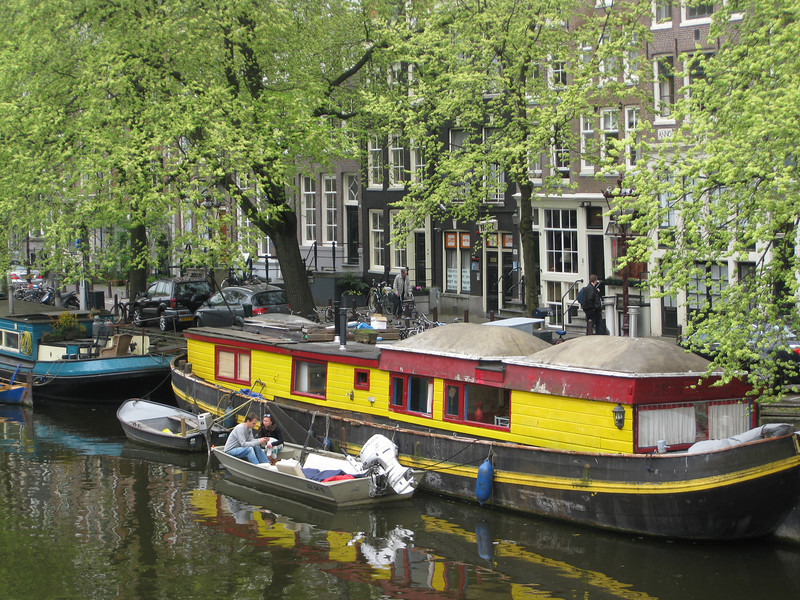 Colorful canal boat