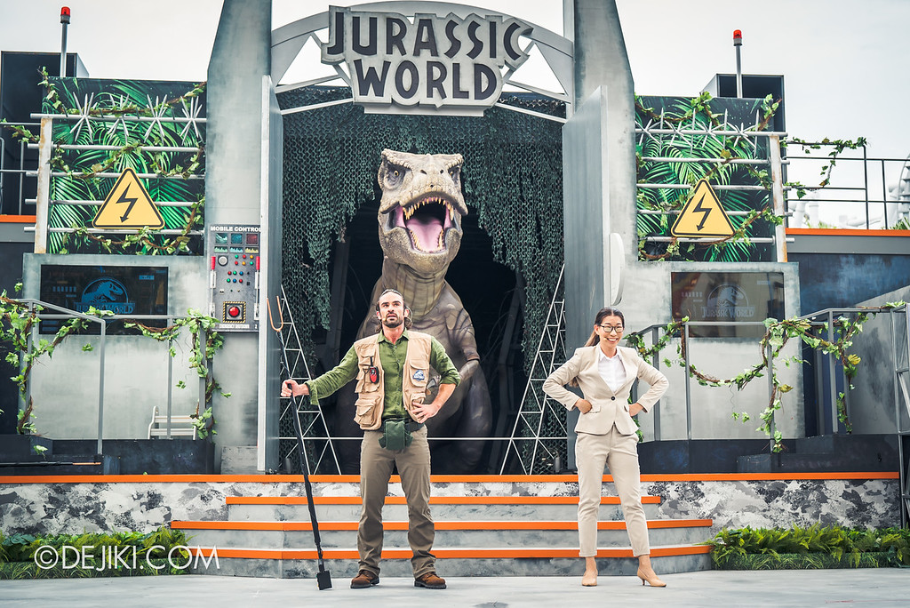 Universal Studios Singapore Park Update - Jurassic World Explore and Roar event - Jurassic World: ROAR! show / Crisis averted