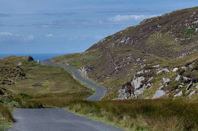 Scenic view of mountain road, Slieve League, County Donegal, Ireland