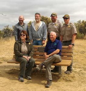dedicating bench to Bob Simmons on Lime Ridge_05_25_2017