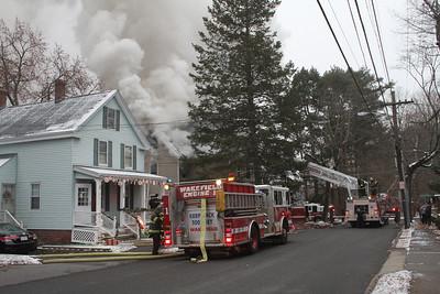 Wakefield MA 3 alarm house fire 12-2-2012