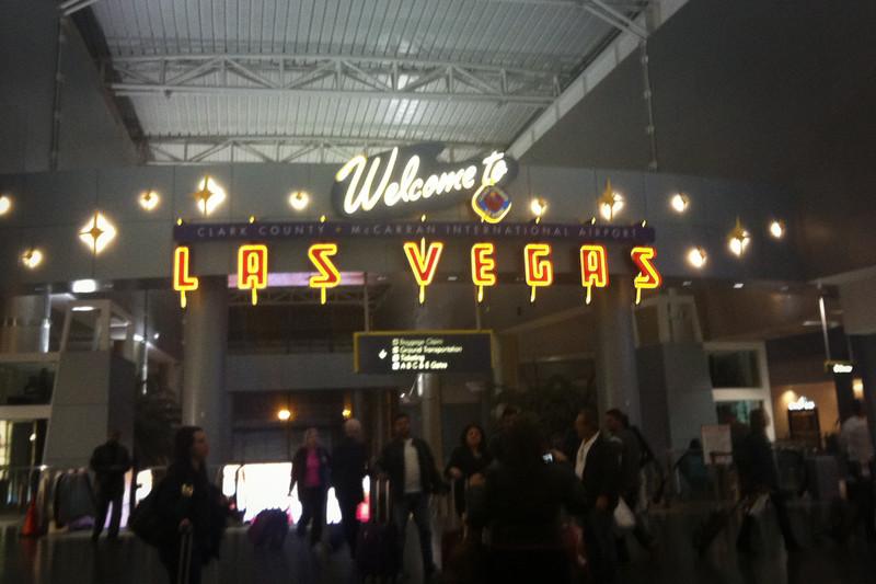 Arrived in Las Vegas