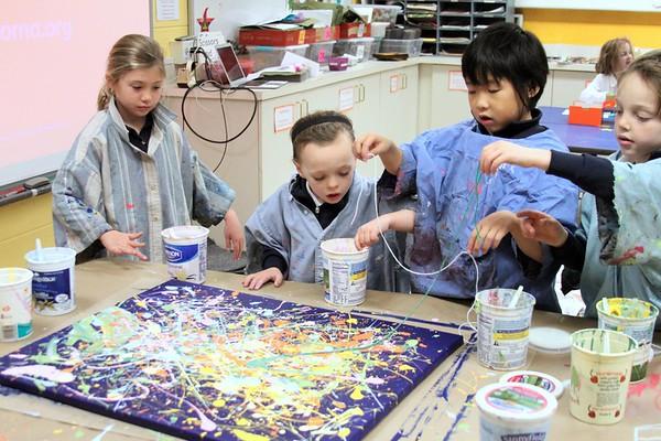 1st Grade - Splatter Painting