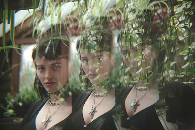 Genevieve in the Greenhouse
