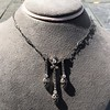 1.63ctw Victorian Triple Drop Diamond Necklace 14