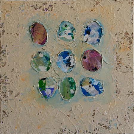 """Untitled"" acrylic & mixed media on canvas 12"" x 12"""