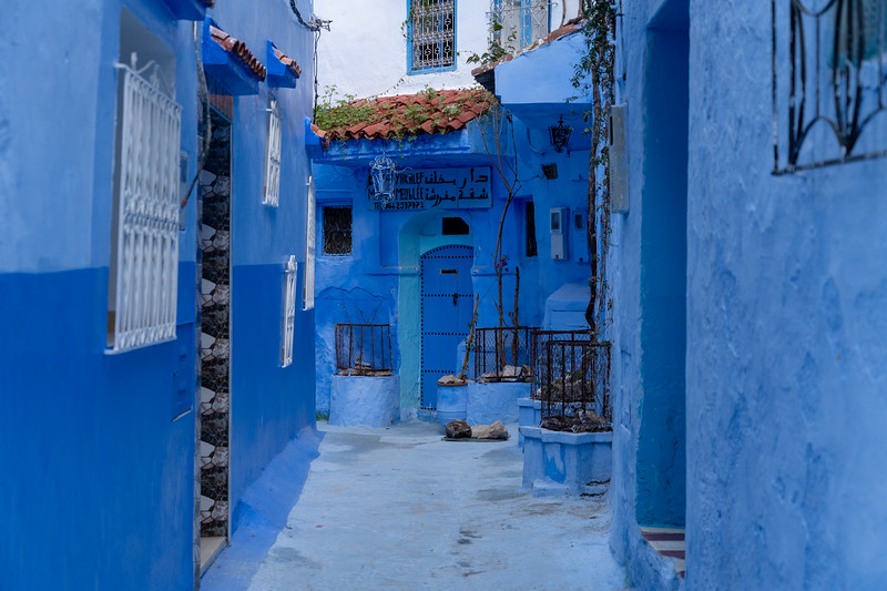 Alleyway in Chefchaouen, Morocco