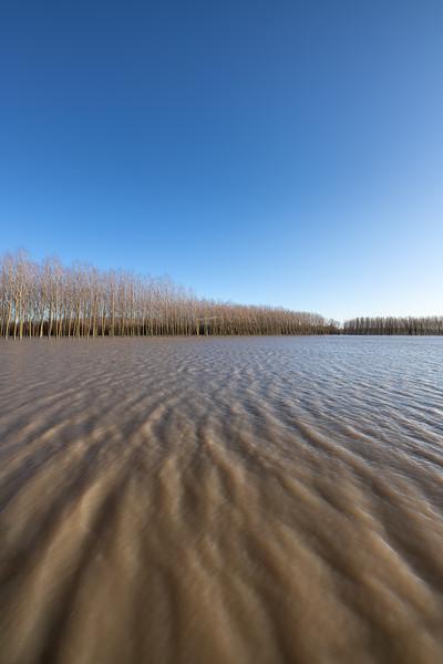 Po River Flood - Viadana, Mantova, Italy - December 23, 2019