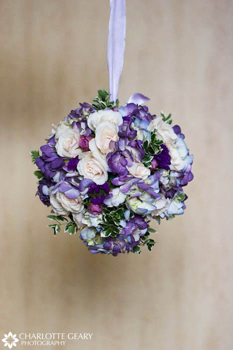 Purple flower girl pomander