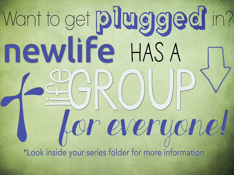 Lifegroup Slide for Morning Announcements