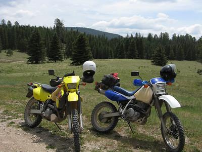 Jemez Mtns. - FR376, FR144, FR315, FR117, Hwy. 126 DS Ride  6-29-08
