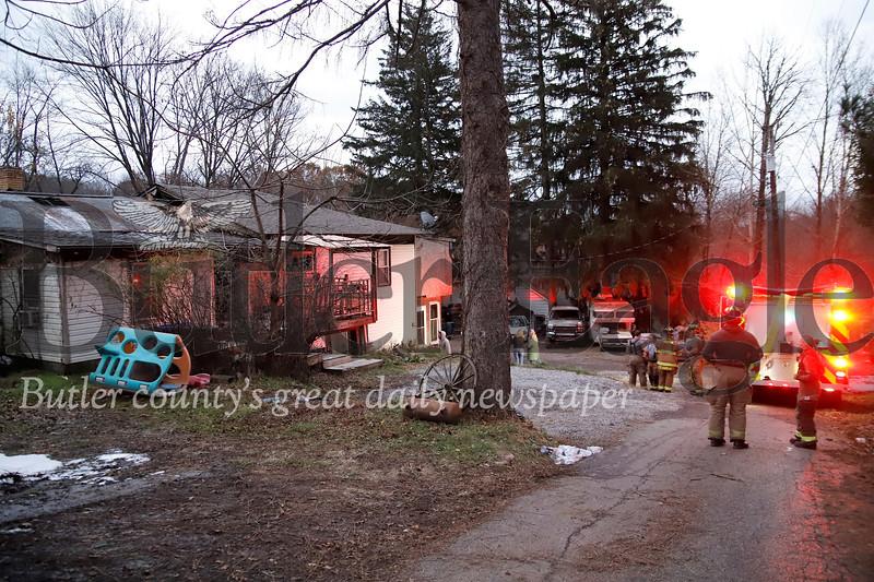 House fire Saturday 11/02/19 262 Chicora Rd.   Seb Foltz/Butler Eagle