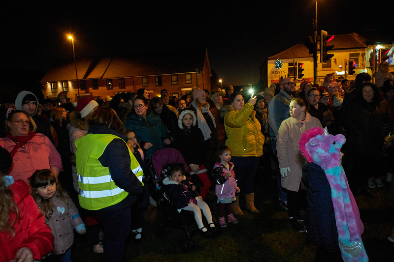 Christmas Tree Lights turn on Castleton Rochdale