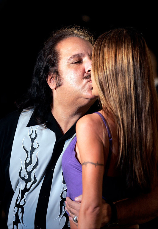 . Adult film actors Ron Jeremy and Tabitha Stevens attend the VH1 - Big in \'04 at the Shrine Auditorium December 1, 2004 in Los Angeles, California. (Photo by Carlo Allegri/Getty Images)