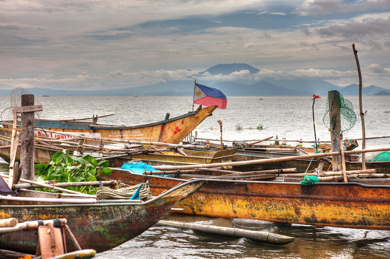 Fishing Boats at Rest on the River, Phillippines