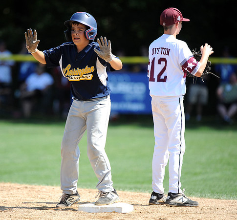 8//8/2019 Mike Orazzi | Staff Rhode Island's Mason Crain (6) during the Eastern Regional Little League Baseball Tournament at Breen Field in Bristol Thursday.