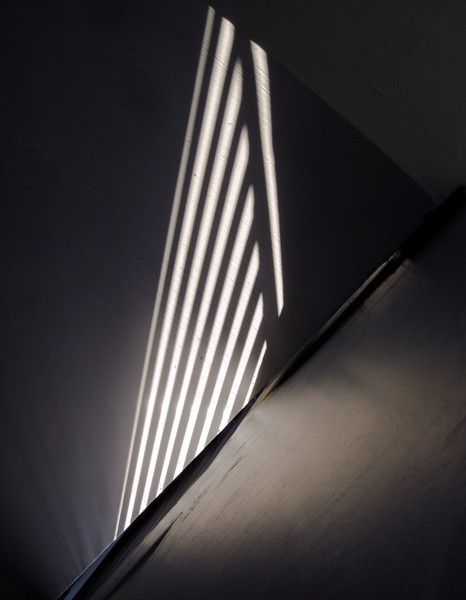 Light and shadow in the staircase