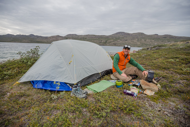 David stock camping in Greenland