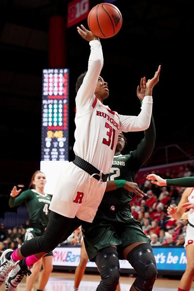 Michigan State Defeats Rutgers 66-55