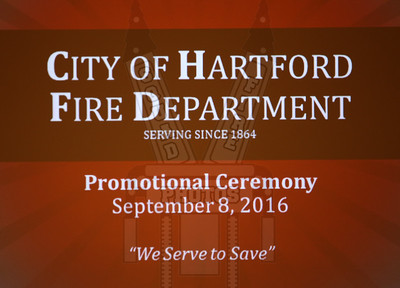 Hartford, Ct Promotional Ceremony 9/8/16