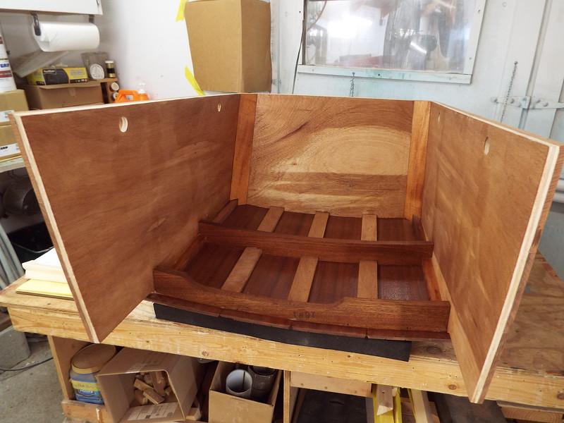 Inside the engine box epoxied.