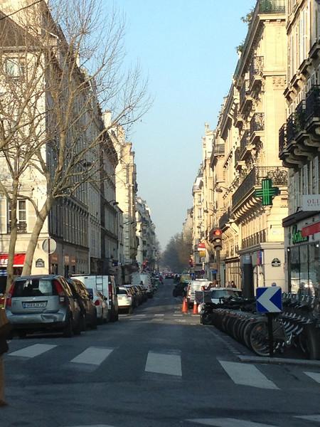 Street near the hotel.