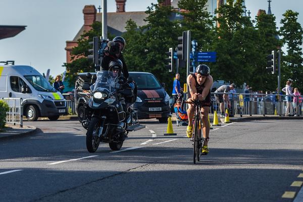 Cardiff Triathlon - Bike Leg Lloyd George Avenue - Up to 8.20