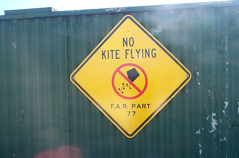 No kite flying' (Meigs Field)