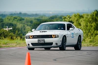 28 White Dodge Challenger