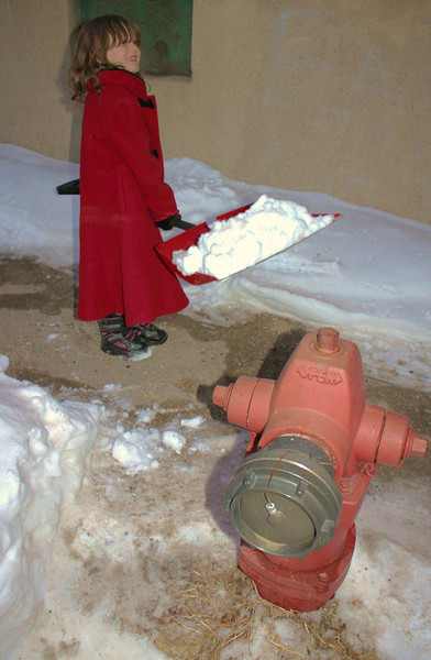 Shoveling Snow Around Hydrant, Bowe St, Tamaqua (1-25-2011)