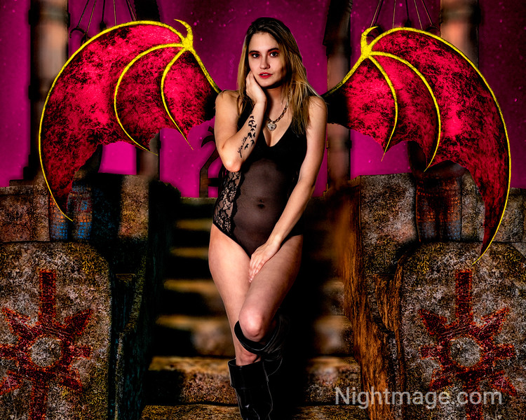 Succubus with Red Wings
