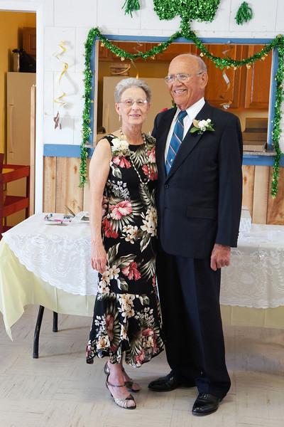 Wanda and Willie Moeller at their 50th Wedding Anniversary celebration, Gila Mt. RV Park, Yuma, AZ. Mar. 10, 2012.