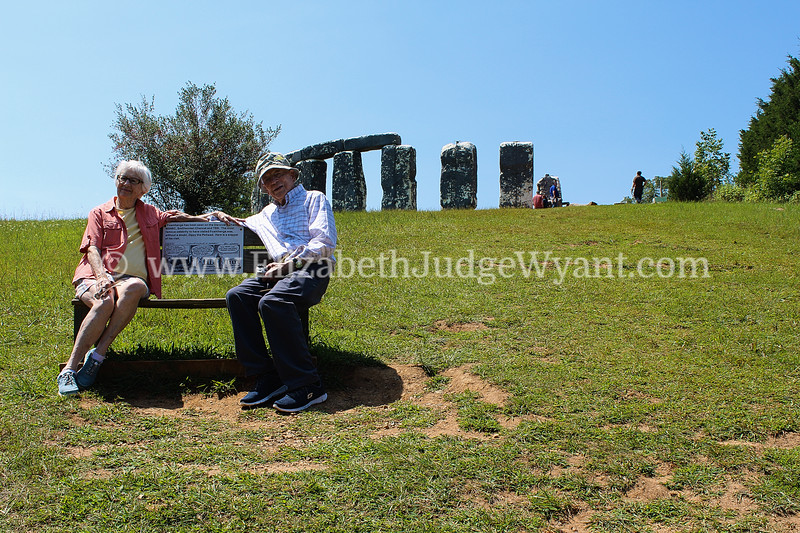 Mom and Dad just hangin' at foamhenge!