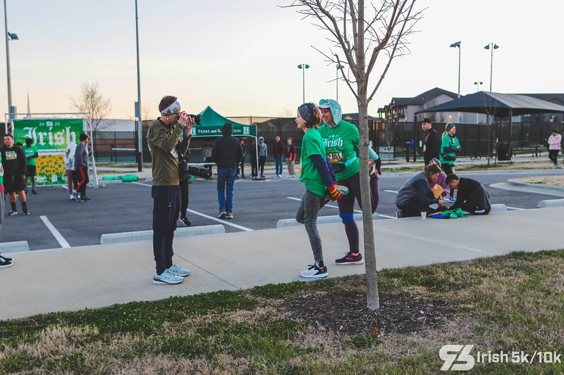 It was a beautiful, sunny day out at Run Bentonville's Irish 5k/10k.  There was music, running, costumes, and Raising Cane's goodies for runners to enjoy.