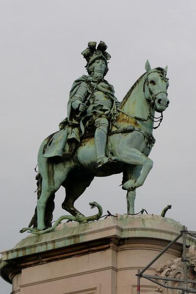 Statue of King Jorge 1º. Praça do Comércio, Baixa, Lisbon