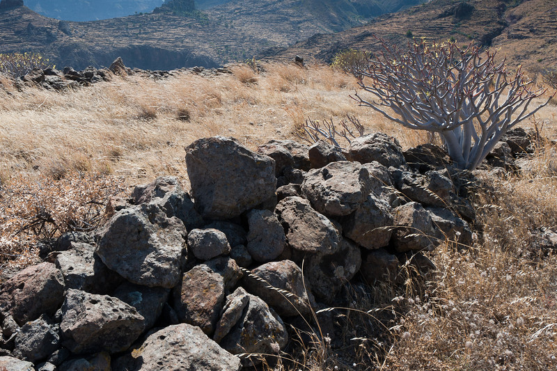Piles of rock in La Gomera, Spain
