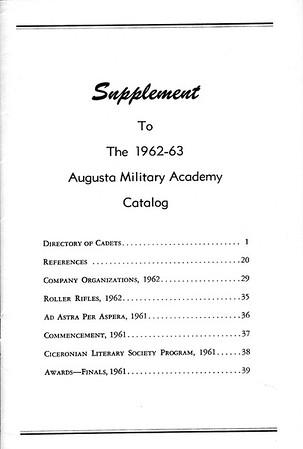 Catalog Supplement 1962-1963