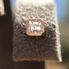 .52ctw Asscher Cut Diamond Bezel Stud Earrings, 18kt Rose Gold 2