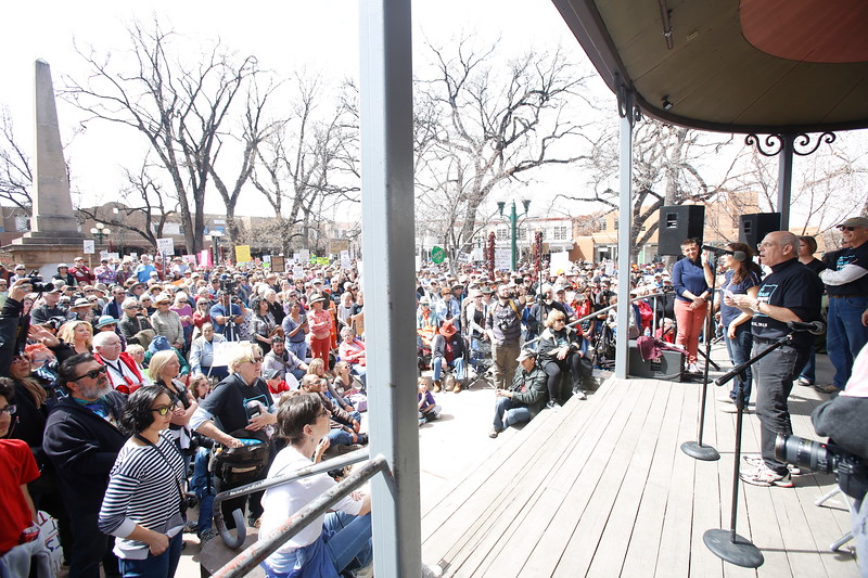 The March for Our Lives protest in Santa Fe on  Saturday, March 24, 2018. Thousands of people attended. Luis Sánchez Saturno/The New Mexican