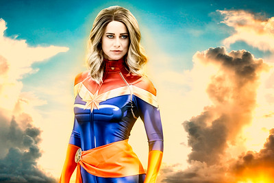 Captain Marvel Photoshoot 2019
