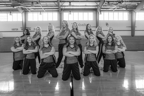 2019 Dance Team in Black and White