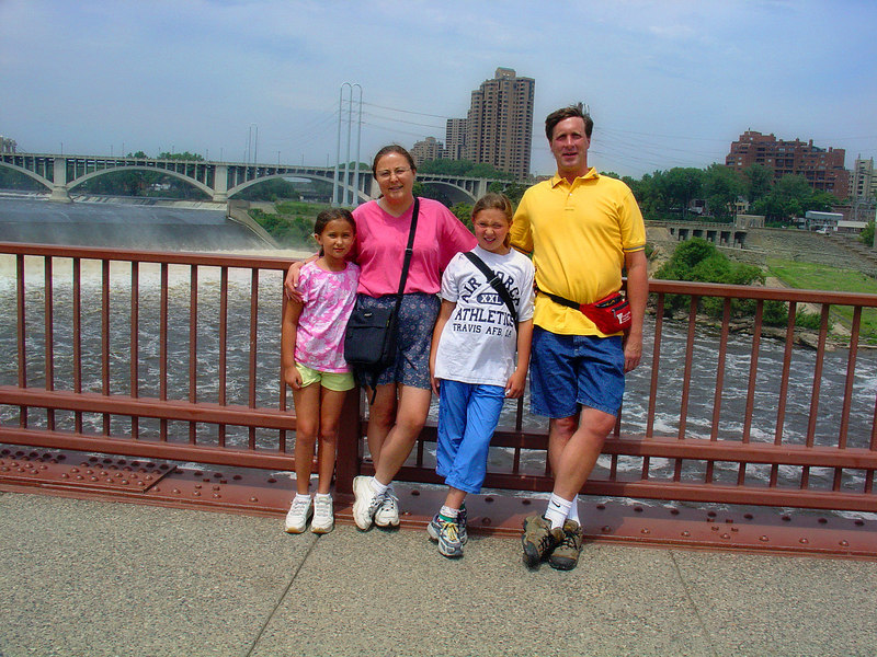 Daniela, Mary, Kelly, Norm - downtown Minneapolis.
