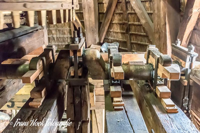 Sawmill D'Heesterboom. The big crankshaft for three sawframes.