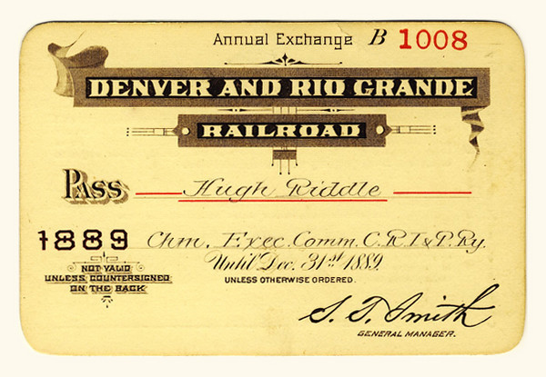 D&RG Railroad 1889