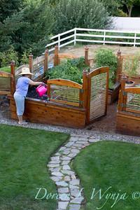 BJ & Primus an amazing raised bed garden designed by artist Charles Gluskoter