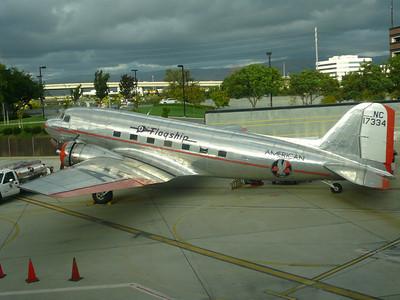 San Jose Airport (SJC) an American Airlines DC3