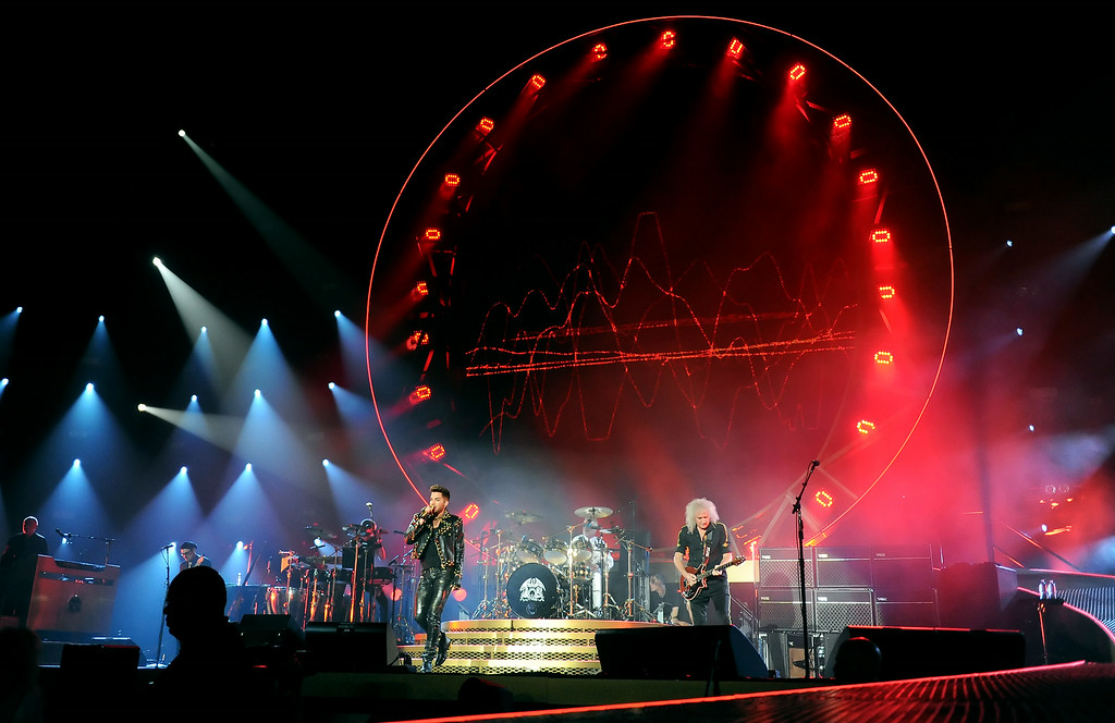 . Queen + Adam Lambert perform at The Forum in Inglewood, Calif., on Thursday, July 3, 2014. 