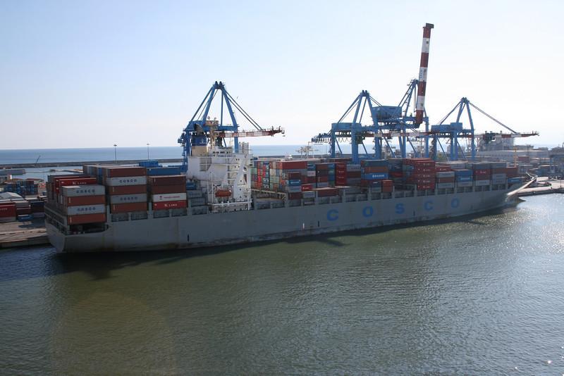 M/S COSCO SINGAPORE in Genova.