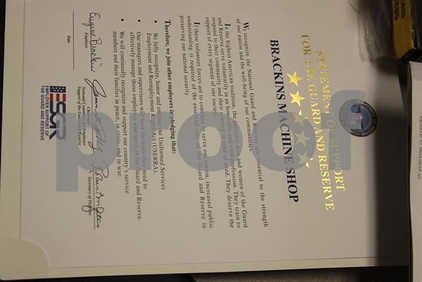 Brackins Machine Shop Honored - August 2011